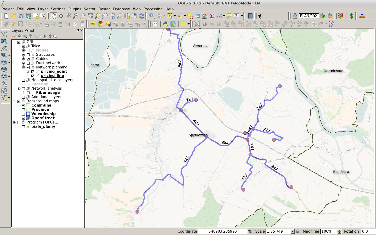 Geospatia Network Inventory POPC1.1 example